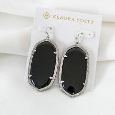 Kendra Scott Kendra Scott Danielle Silver Drop Earrings In Black NEW