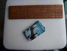 Card Game:Cribbage for 2 players:Board(Vintage1950s):Deckofcards(1972ScottPaper)