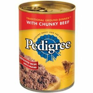 Pedigree Wet Chopped Ground Dinner Beef Adult Canned Dog Food 13.2 Oz (1-Can)