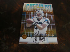 2000 Playoff Prestige Football---Autographed Team Checklist---#CL-67 Jeffers