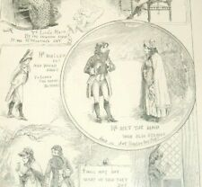 Antique Valentine's Day Poem Illustration 1887 He Met The Maid Who Also Strayed