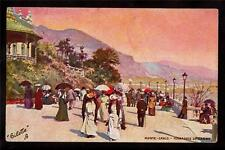 French Tuck people walking Casino Terrace Monte Carlo France postcard