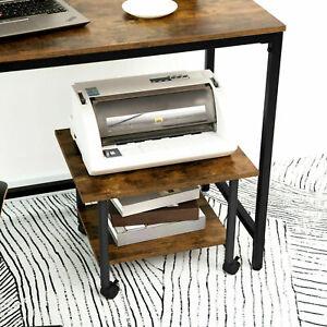 HOOBRO Druckertisch Druckerständer mit arretierbaren Rädern Druckerhalter Retro