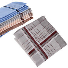 12PCS Men Vintage Pocket Square Hankerchief Hanky Wedding Party Handkerchiefs