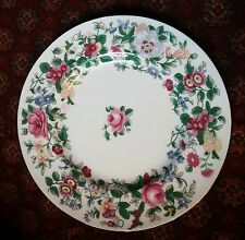 "Crown Staffordshire ""Mille fleurs"" 7.1 in (environ 18.03 cm) Plaque"