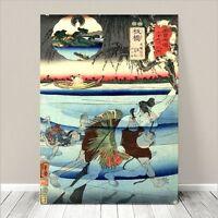 "Vintage Japanese SAMURAI Warrior Art CANVAS PRINT 24x18""~ Kuniyoshi  #285"
