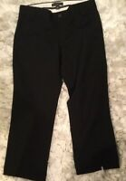 Banana Republic Women's Pants Black Size 4 Cropped Stretch Work/Career