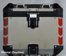 BMW R1200GS 2014+ Adv Truck Top Box Corner Reflective Tape kit RED Chevrons