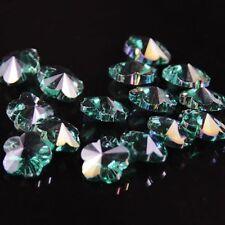 12pcs Swaro-element 8mm plum blossom shape Crystal beads B Peacock green