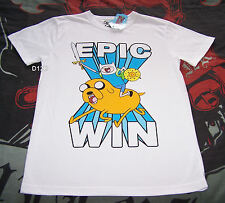 Adventure Time Mens Epic Win White Printed T Shirt Size XXXS New