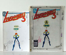 LEGIONNAIRES 3 ISSUE #4 COVER COLOR GUIDE+ 3M PRODUCTION ART SIGNED TOLLIN COA