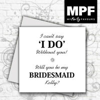 Personalised hand made 'I can't say I do without you' card - Wedding Keepsake