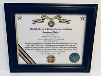 Military Commemorative / U.S. Navy Commemorative Service Medal Certificate