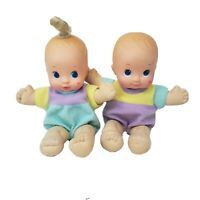 VINTAGE 1992 MATTEL MAGIC NURSERY TRIPLETS BABY BOY & GIRL DOLL DOLLS PLUSH TOY