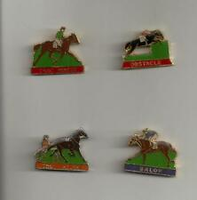 CHEVEAUX SERIE 4 PINS TIRAGE LIMITE SIGNE TROT MONTE TROT ATTELE GALOP OBSTACLE