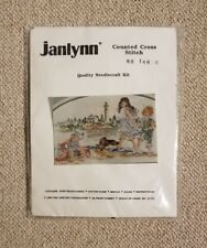 A Day At The Beach Cross Stitch Kit by Janlynn Lighthouse Kids Dog Playing