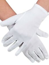 Ladies Short White Dress Gloves for Costume Dress Ups Party  18540