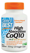 Doctor's Best, High Absorption CoQ10 with BioPerine, 100 mg, 120 Caps VEGAN