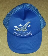 Vintage EAA oshkosh  CONCORDE 85 ball cap aviation air show SNAPBACK TRUCKER HAT