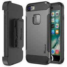 Trianium iPhone 8 Case [Duranium Series] Heavy Duty + Screen Protector + Belt Cl