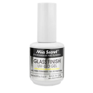 Mia Secret Glass Finish UV LED Gel work with Chrome Powder 0.5oz