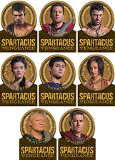 Spartacus Vengeance 2013 Die-Cut Gold Plaque Complete 8 Card Chase Set