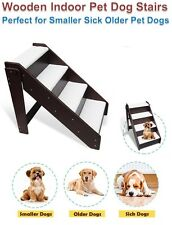 Wooden Sick Old Small Pet Dog Bed Couch Sofa Ramp Climb Support Assist Stairs