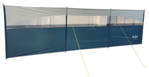 Royal Poled Windbreak Steel 3 Panel Clear Window Camping Caravan Awning Beach