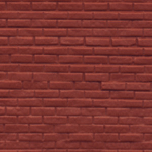 Dolls House Rough Red Brick Sheet Miniature 1:24 Moulded Plastic