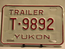 NOS License Plate Trailer Yukon T 9892 New Truck Car Garage Sign Man Cave