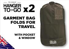 Hanger to Go Garment Clothes Bag Breathable Folds for Easy Travel with Pocket x2