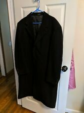 Famous Brand men's car coat wool blend weather proof black XL
