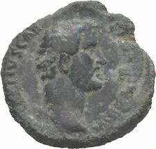 Scarce Ancient Rome AD 138 ANTONINUS PIUS, Large AE As, Crossed Hands