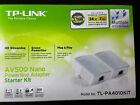 New TP-LINK TL-PA4010KIT 500Mbps AV500 Powerline Wi-Fi Range Extender Kit