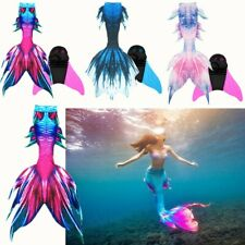 Kids Adults Mermaid Tail Luxurious Swimming Swimwear Swimsuit Tail Monofin