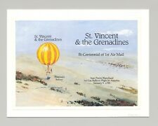St Vincent #1874 Balloons 1v S/S Imperf Proof Mounted on Card