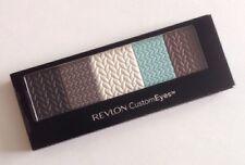 Revlon CustomEyes Eyeshadow 022 Beach Beauty Dark Brown White Blue Nude Liner