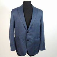Ermenegildo Zegna EMF Blue Cotton 2 Button Sports Jacket Blazer Sz 54R NWT $1795