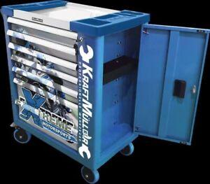Servante d'atelier à outils KRAFT MULLER 7 tiroirs complète avec 581 outils