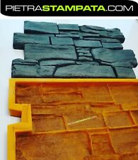 STAMPO PIETRA in GESSO CEMENTO Mold Stone VENEER for Concrete Plaster Wall Stone