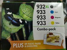 HP 932XL 933 Ink Cartridges Combo Pack - Photo Paper, Envelopes - Exp 9/2016 L1