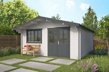 44mm Gartenhaus ISO 500x500 cm Blockhaus Holzhaus Gerätehaus Schuppen Holzhütte