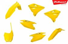 Polisport Restyled Plastics Kit Yellow #90868 for Suzuki Rm250/Rm125 (Fits: Suzuki)