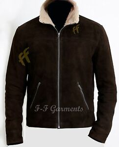 THE WALKING DEAD RICK GRIMES - ANDREW LINCOLN 100% SUEDE LEATHER JACKET-BNWT