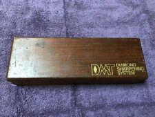 Vintage DMT Diamond Sharpening System  Sharpening Stone Wooden Storage Box