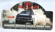 Aufkleber Rallye Catalunya 1991 Winner: Toyota Celica Turbo 4WD Armin Schwarz WM