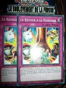 YU-GI-OH! PLAYSET (LOT DE 2) LE RETOUR A LA NORMALE RIRA-FR075 NEUF EDITION 1