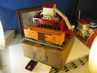 LIONEL POSTWAR BOXED 352 RED ICE DEPOT AND CAR SET..NICE