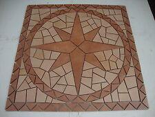 Rosace/Mosaique en carrelage 67x67cm  Rose des vents