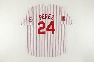 Tony Perez AUTOGRAPHED Limited Edition Cincinnati Reds 2000 Hall of Fame Jersey